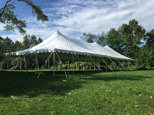 Tent weathered the July 12th Storm at the Yacht Club on Gull Lake! Installation Quatlity is EVERYTHING!