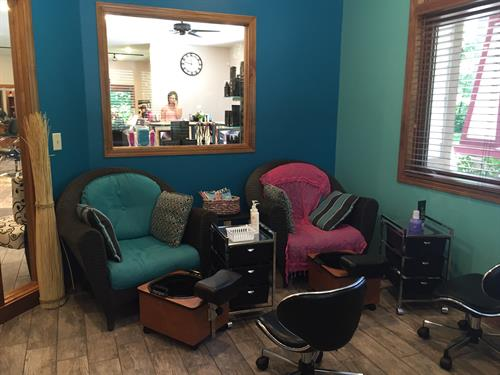 Sit and relax with a manicure or pedicure.