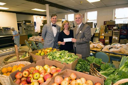 "North Shore Bank recently announced the donation of $1,600 to the Haven from Hunger in Peabody. The proceeds were given by bank employees during the month of May as part of their weekly ""Jeans Day"" program. In exchange for $5 each week, staff can wear jeans to work with the funds collected pooled and then donated to an area charity."