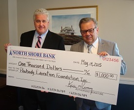 North Shore Bank Makes a Donation to the Peabody Education Foundation