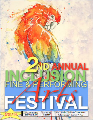 2nd Annual INCLUSION Fine & Performing Arts Festival poster