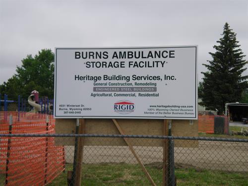 Town of Burns Medical Response Facillity Pre-construction