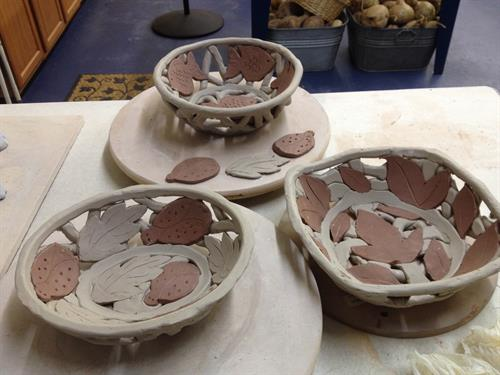We are makin' lots of pots at the studio!