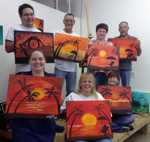Hot in the Tropics painting night