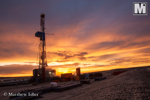 Industrial Photography including drilling rig in southeastern Wyoming