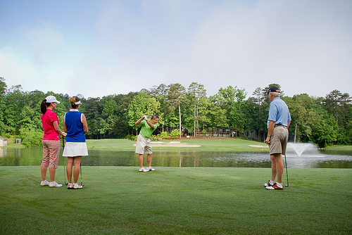 Golfers on Ponce de Leon Golf Course