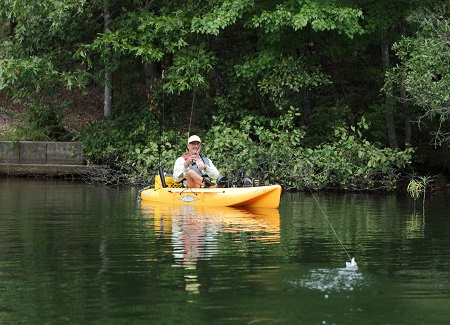 Kayak Fishing in Hot Springs Village