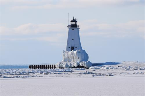 Winter at the Breakwater Light