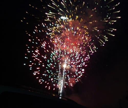 4th of July ! This picture taken from our property. We also have a BBQ for our guests on the 4th. Pulled pork and brats!