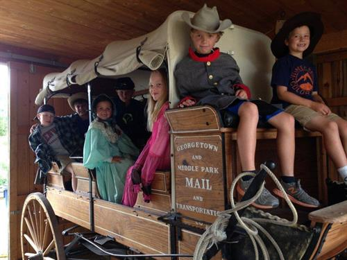 children visiting Cozens Ranch Museum