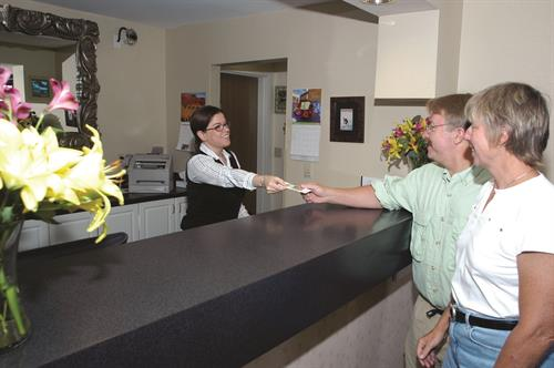 Our staff is ready to greet you 24 hours per day at the Pinnacle Lodge.