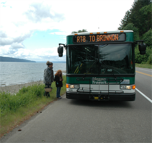 MTA Route 8 Flag Stop on Hwy 101