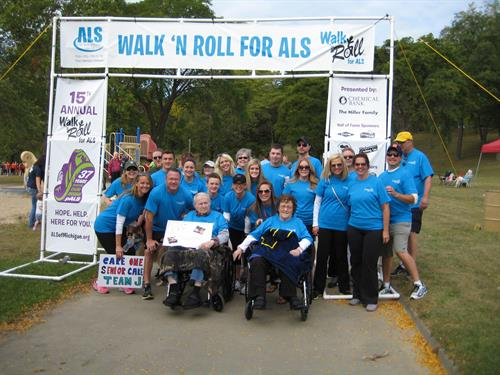 CareOne Senior Care-Team J  Walk 'n Roll 2015 w/ ALS of Michigan