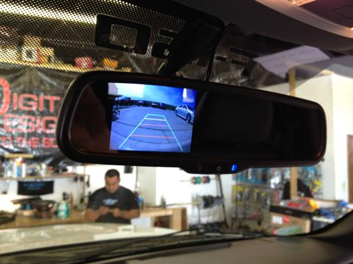 Rear view mirror with back up camera