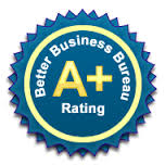 Proud to have an A+ with the BBB