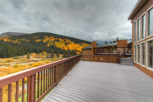 Spacious decks are perfect for grilling for the family or just taking in the amazing scenery.