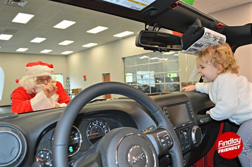 Findlay Chrysler Jeep Ram Ride with Santa Event.
