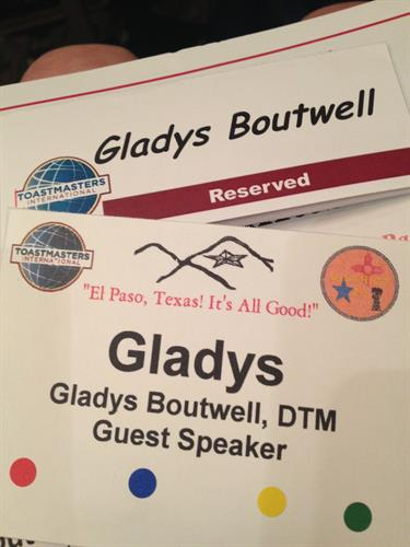 Guest Speaker with Toastmasters District 23