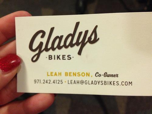 Gladys Bicycles, not owned by Gladys Boutwell