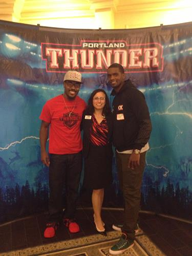 Portland Thunder players