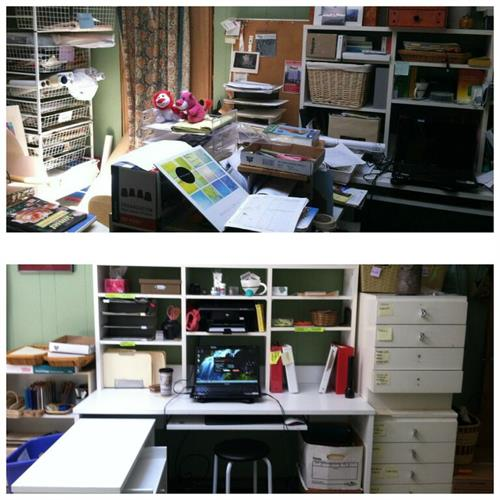Before & After home office organization