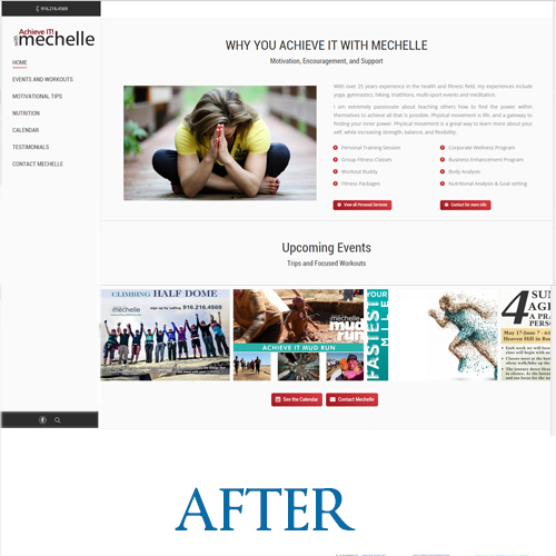 www.achieveitfitness.net - After the redesign