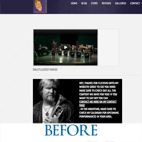 dalehead.net - Before the redesign