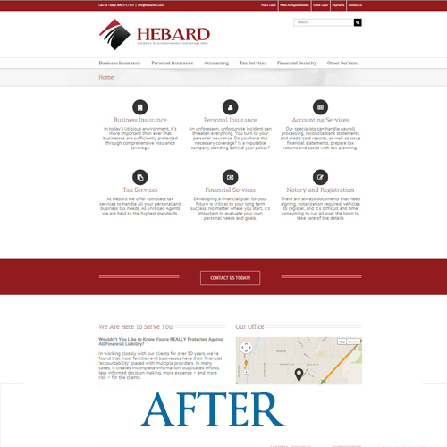 hebardinc.com - After the redesign