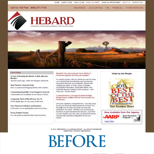 hebardinc.com - Before the redesign