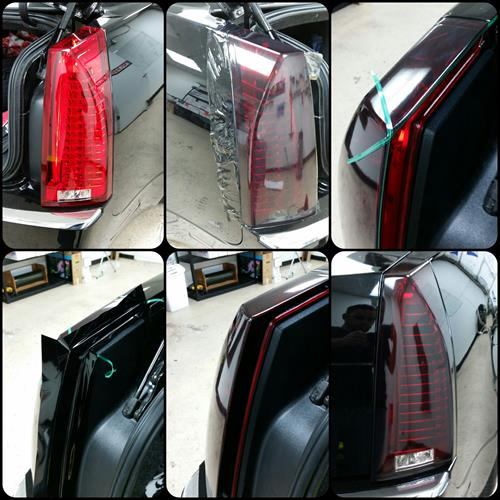 Process of Tinted Tail lights