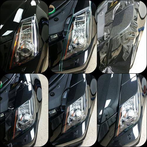 Color match vinyl and custom eyelids for vehicles