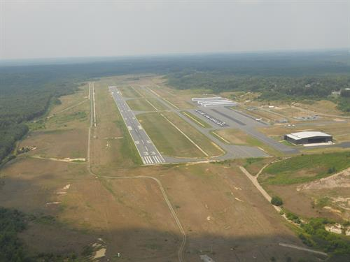 Instrument approach to Runway 33 from the east over hwy 95