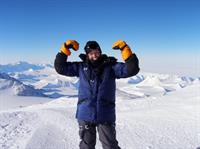 Lori Schneider on top of the bottom of the world, the Vinson Massif in Antarctica!