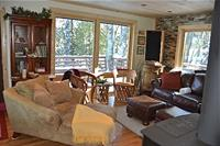 Panoramic views of nature from living room