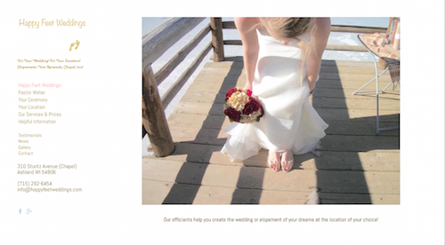 Happy Feet Weddings