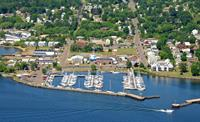 Apostle Islands Marina in downtown Bayfield