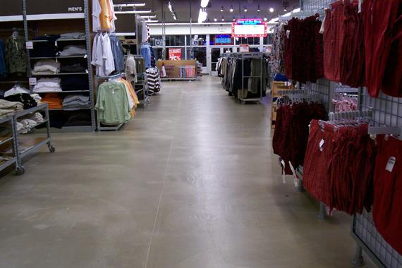 Self Level Ardex with Clear Epoxy Coating - Old Navy Houston, T.X.