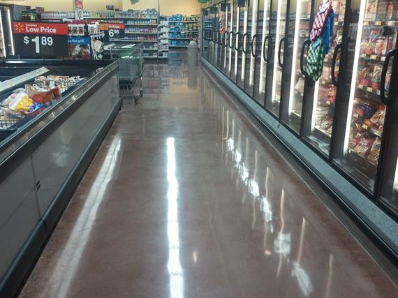 Polished Concrete - Kroger Dallas T.X.