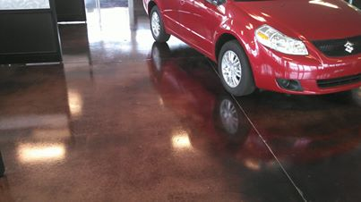 Overlay with Stain - Dealership Sales Floor in Oklahoma