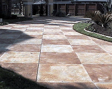 Scored and Stained Driveway Featured in D Magazine. Dallas, T.X.