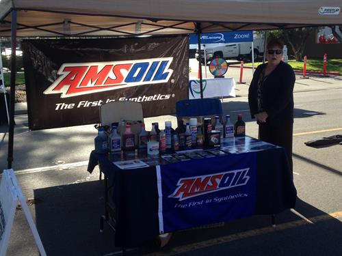 Joy ready for customers at the 2014 Poway Street Fair
