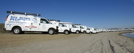 Over 85 trucks ready to serve San Diego plumbing, heating, cooling, restoration needs!