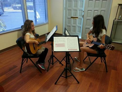 Students Playing Guitar!
