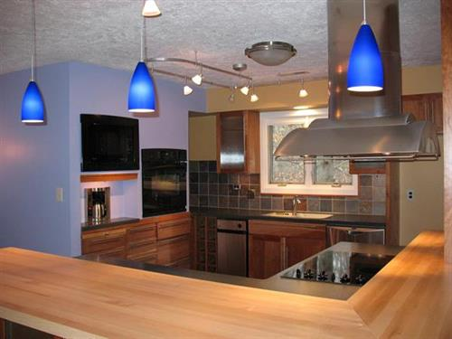 Complete kitchen renovation with two bearing walls removed