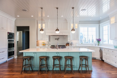 Bespoke kitchen with a splash of color