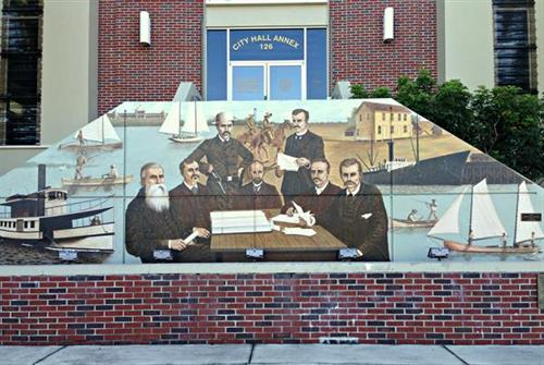 Mural at City Hall Annex