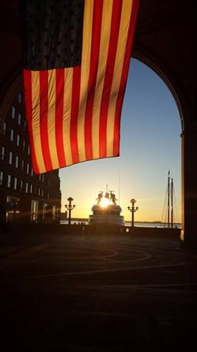 Sunrise on the Boston Harbor
