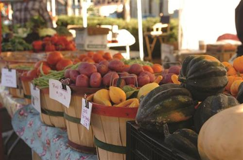 We promote healthy families by supporting the Farmer's Market!