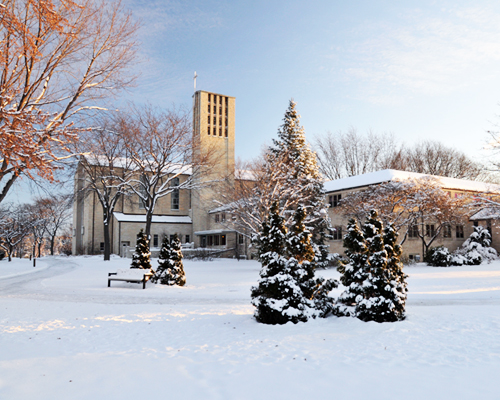 St. Norbert Abbey in Winter