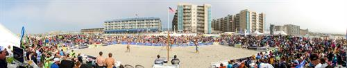 Seaside Volleyball Tournament Stage Panoramic